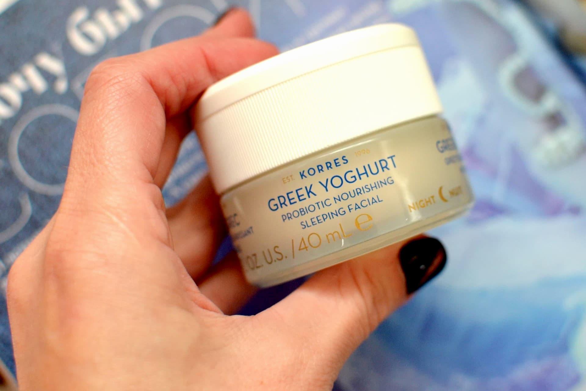 """Крем Greek Yoghurt питательный с пробиотиками """"Йогурт ночной"""""""